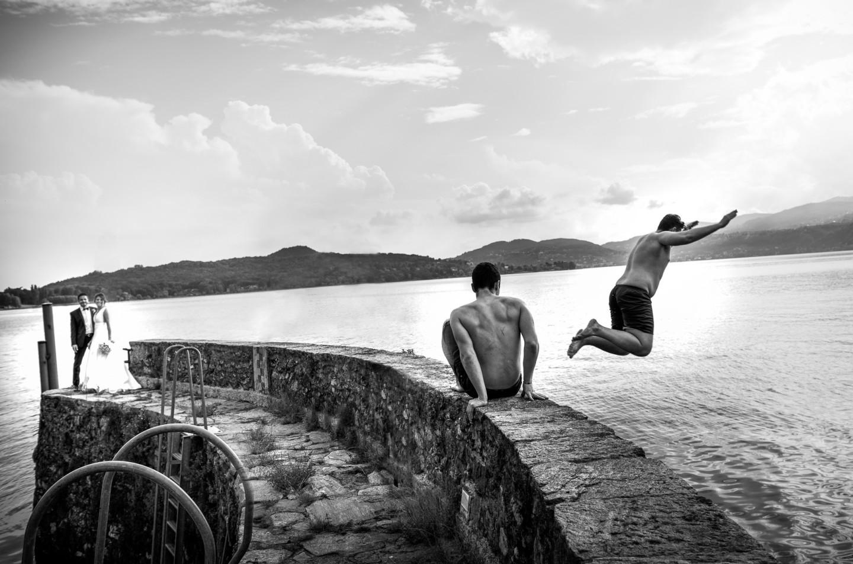 matrimonio tuffo Lago Maggiore