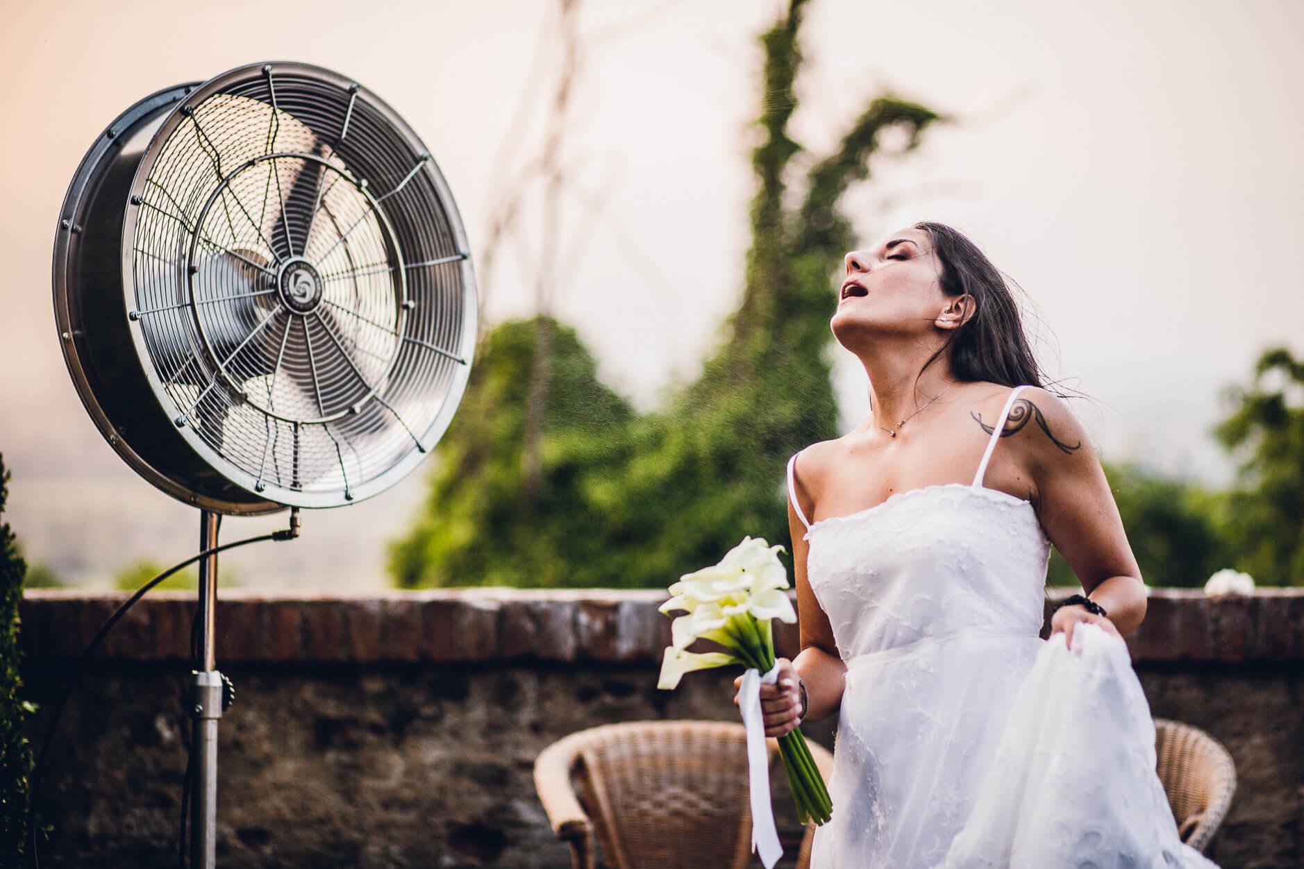 ventilatore sposa