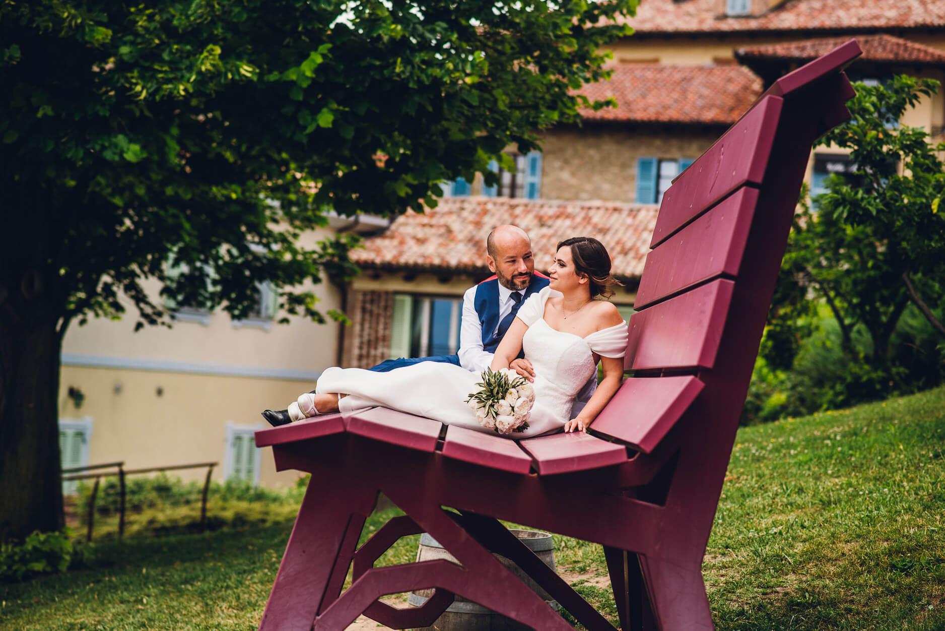 panchina gigante langhe matrimonio