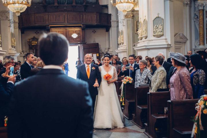matrimonio arancio sposa bouquet