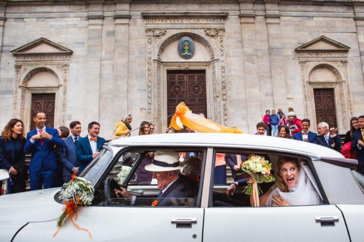 matrimonio arancio sposa olandese