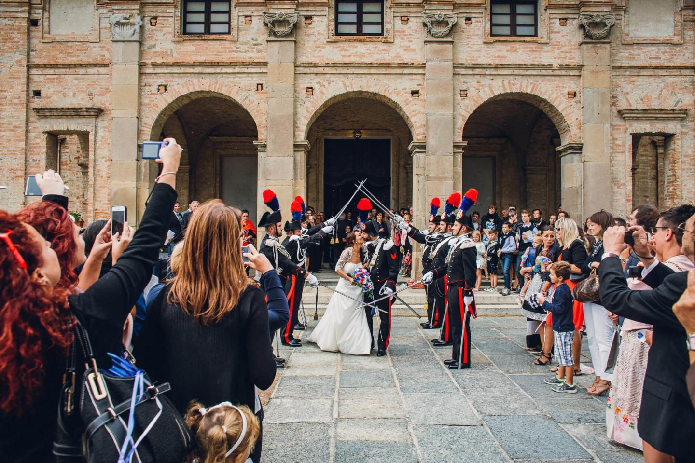 picchetto d'onore matrimonio carabinieri