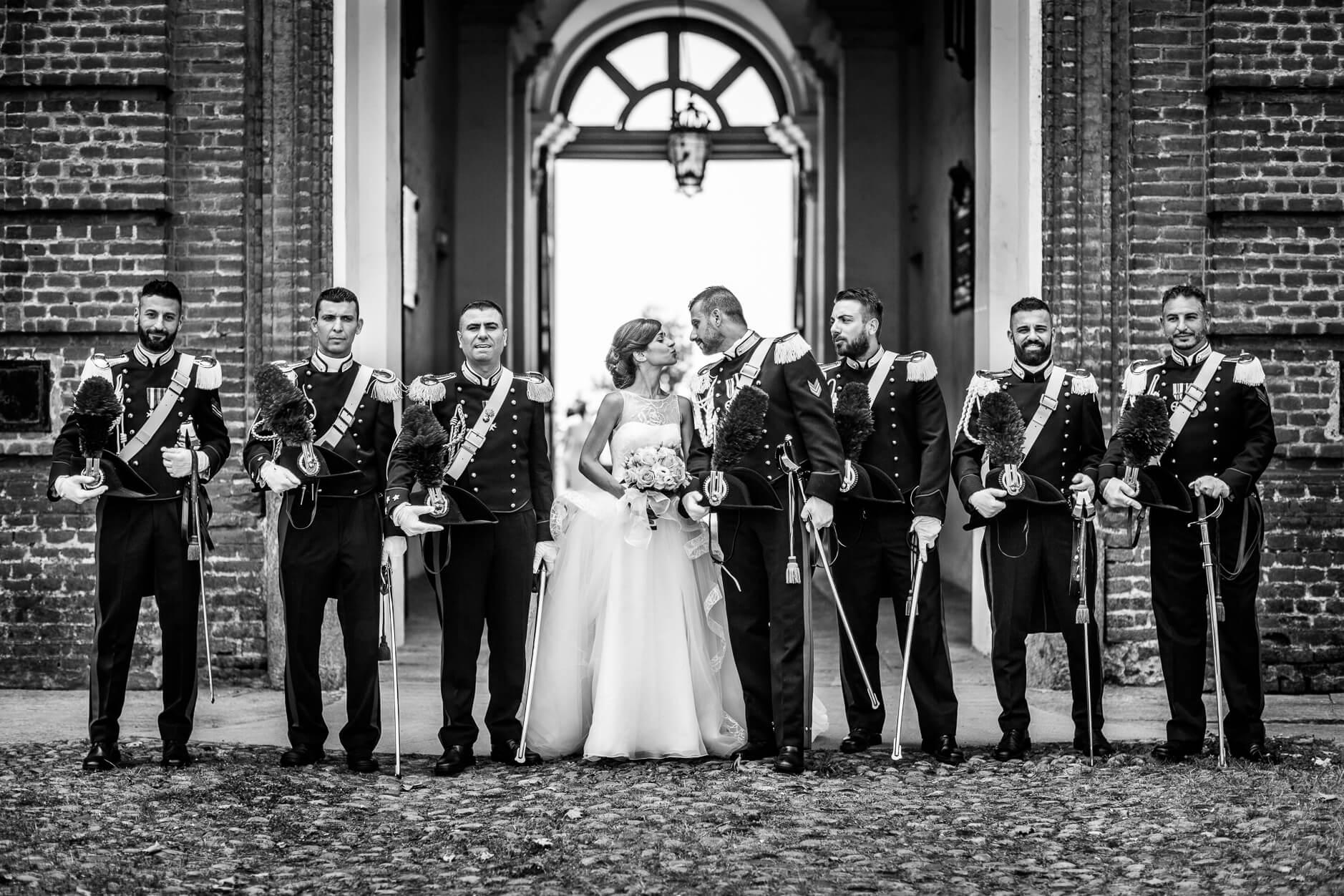 picchetto d'onore matrimonio