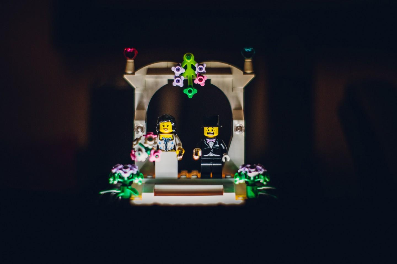 sposi lego portafedi
