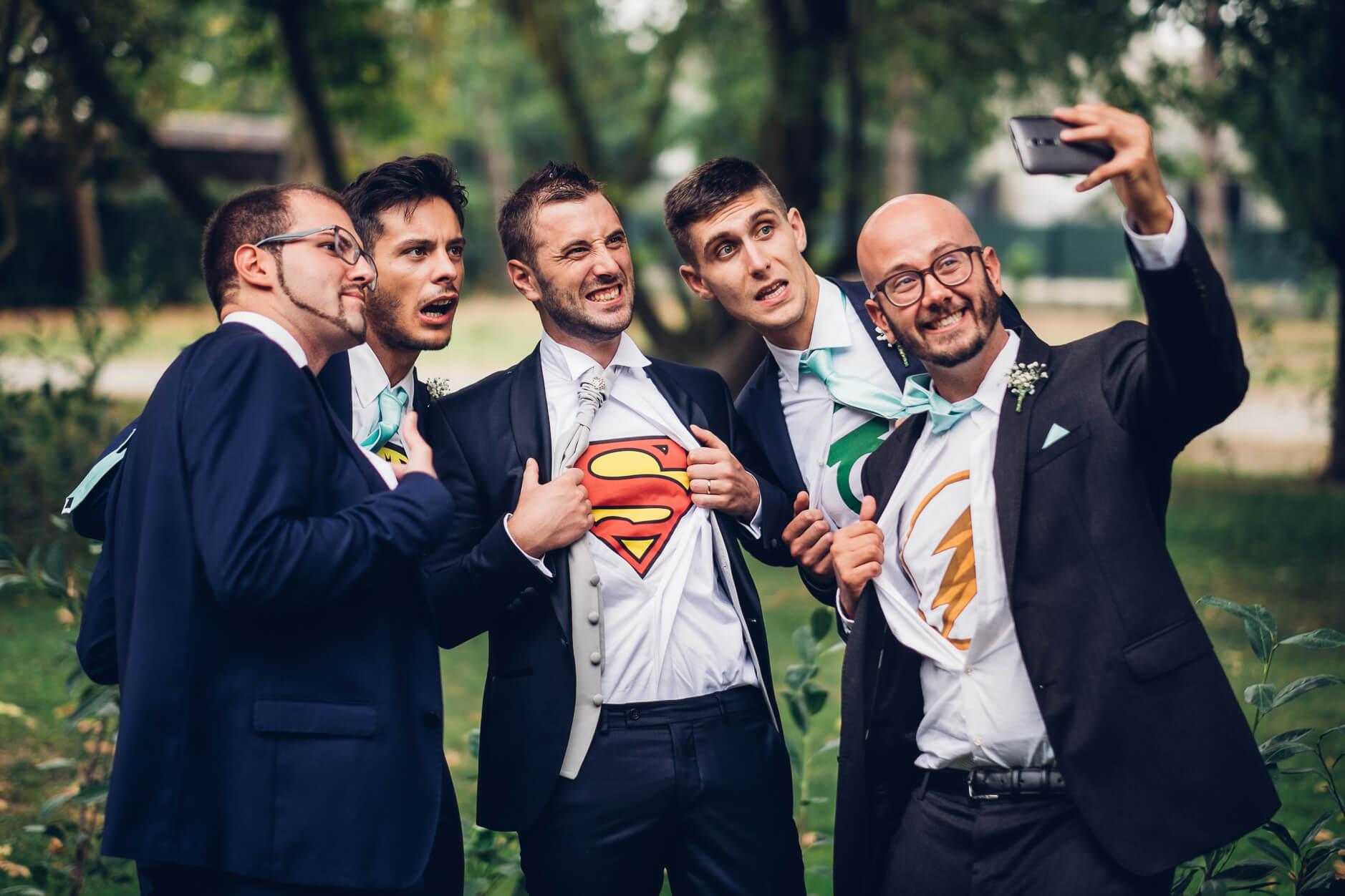 tema matrimonio supereroi