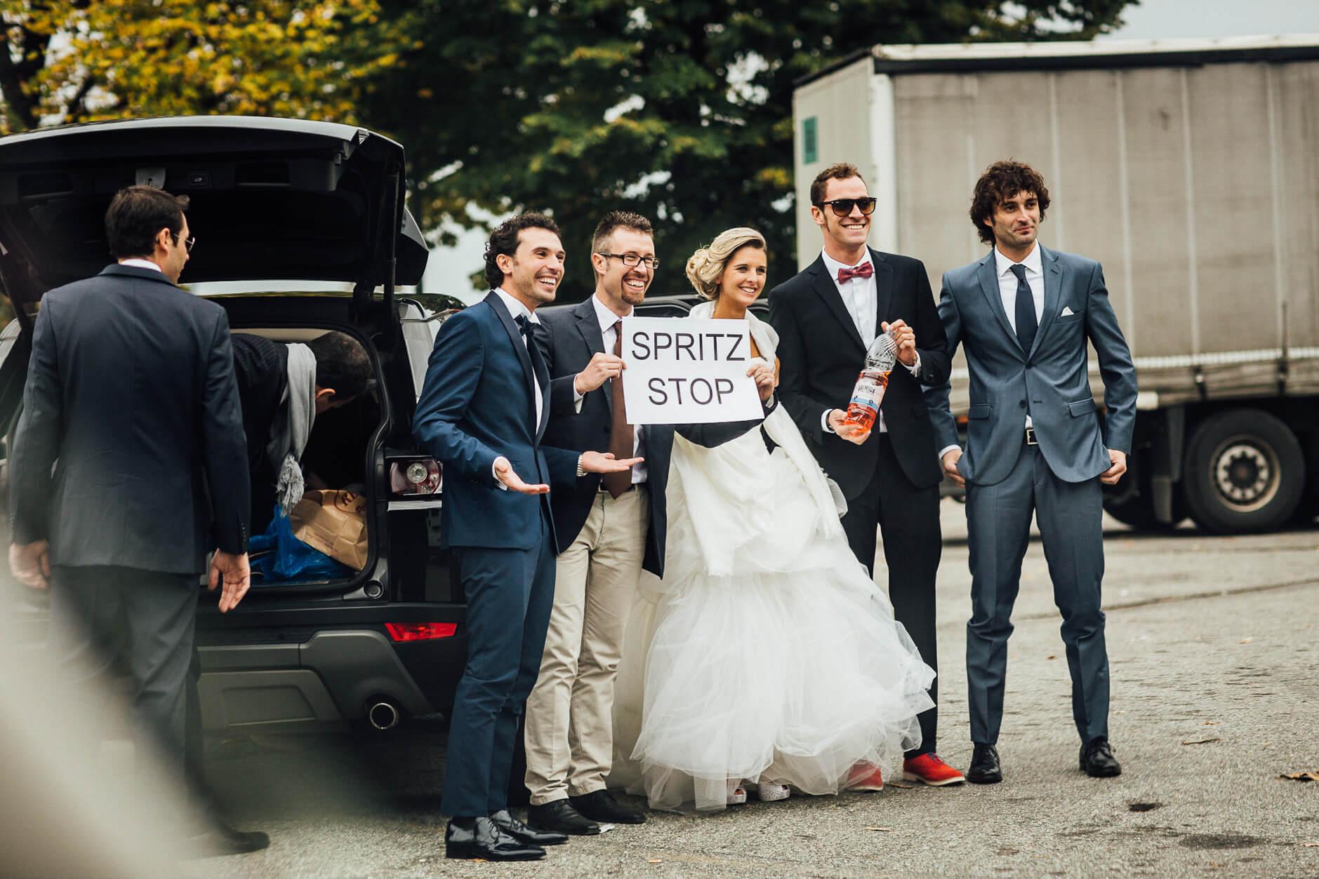 scherzi matrimonio spritz stop