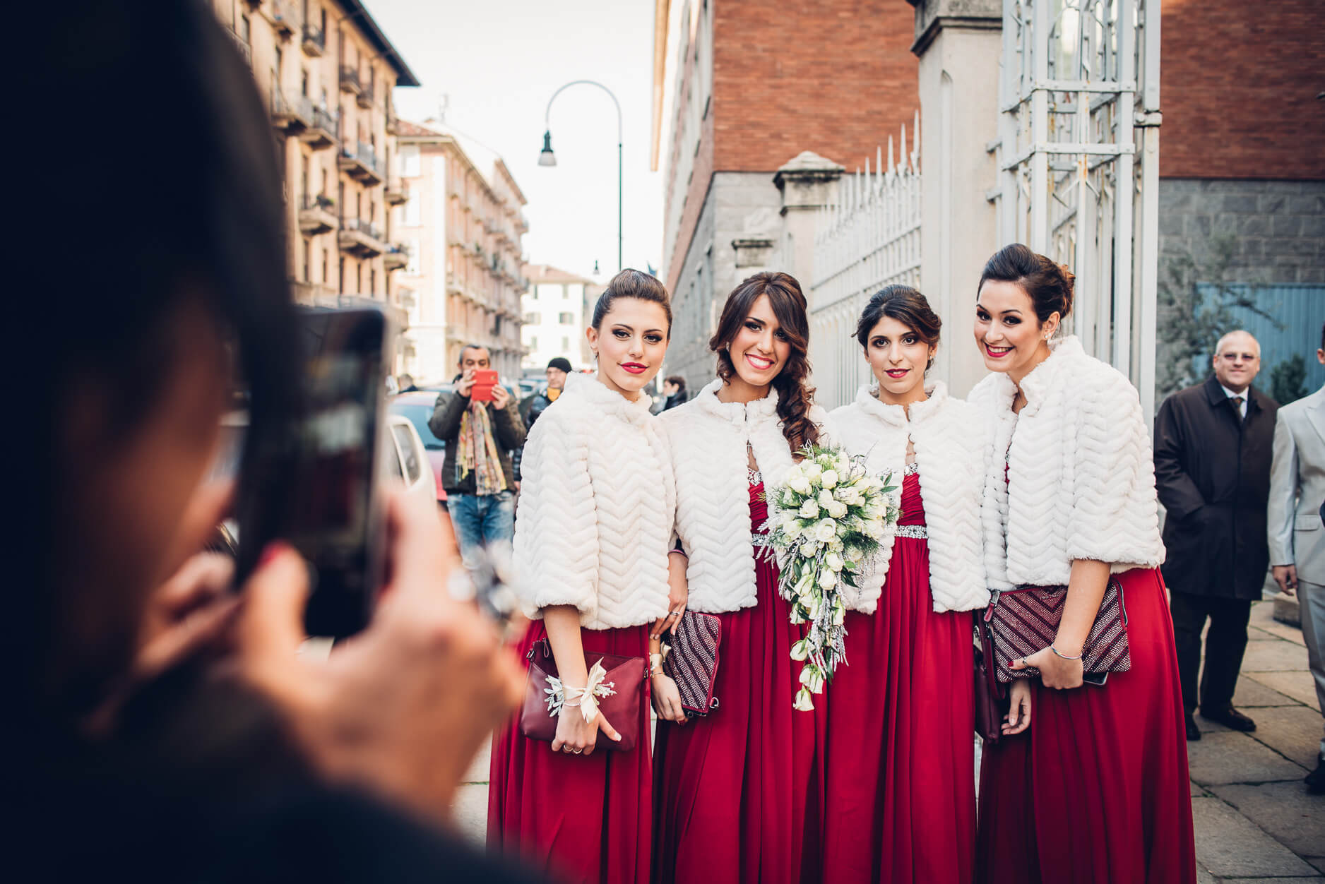 vestiti da sposa invernali