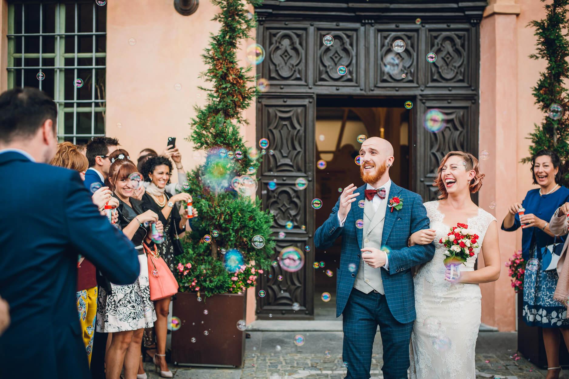 bolle di sapone matrimonio