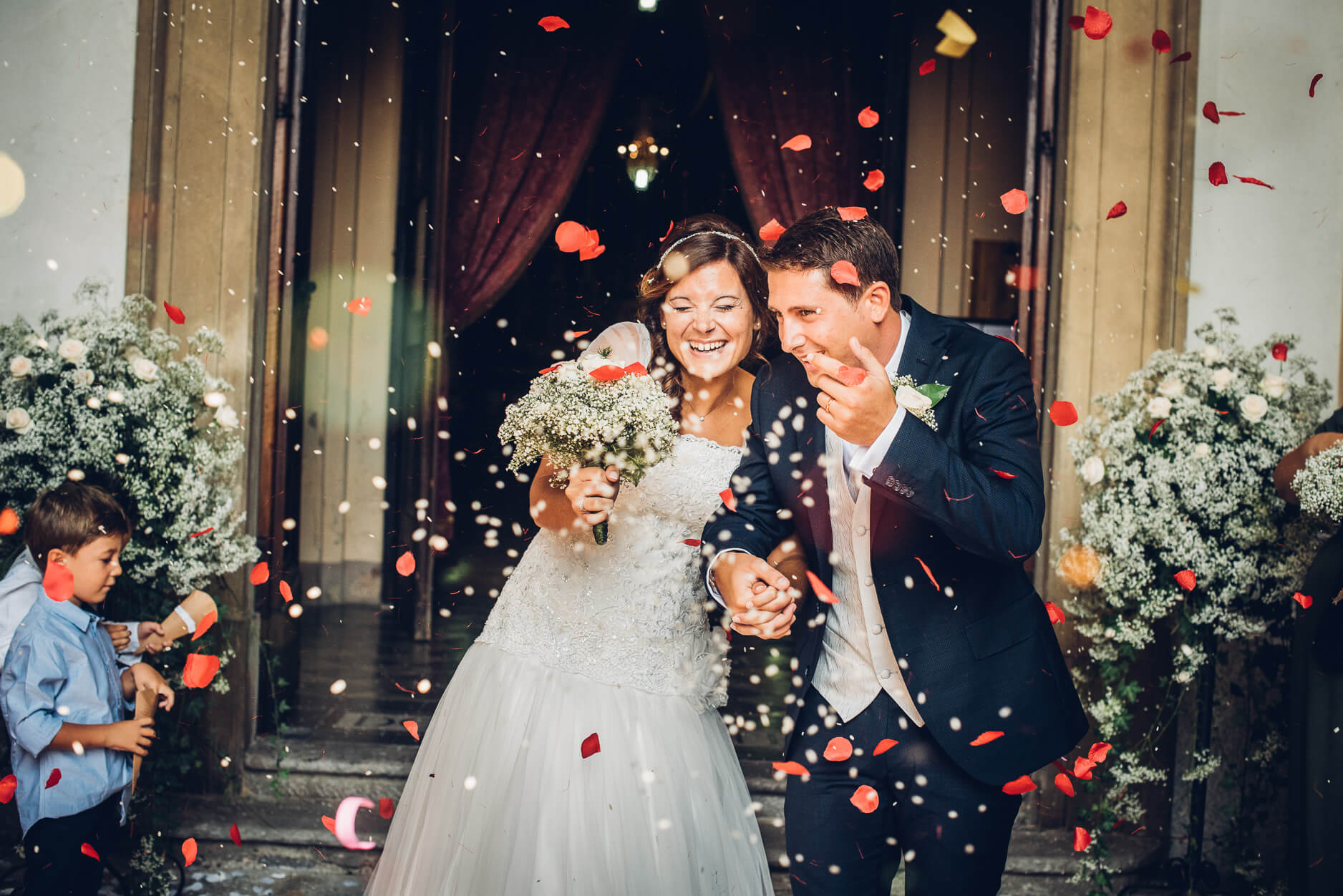 riso colorato matrimonio
