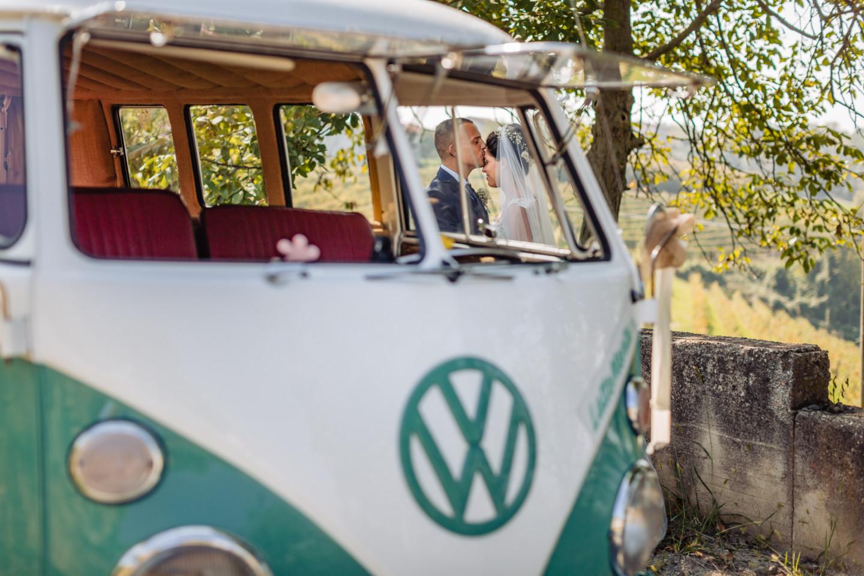 foto matrimonio pulmino volkswagen