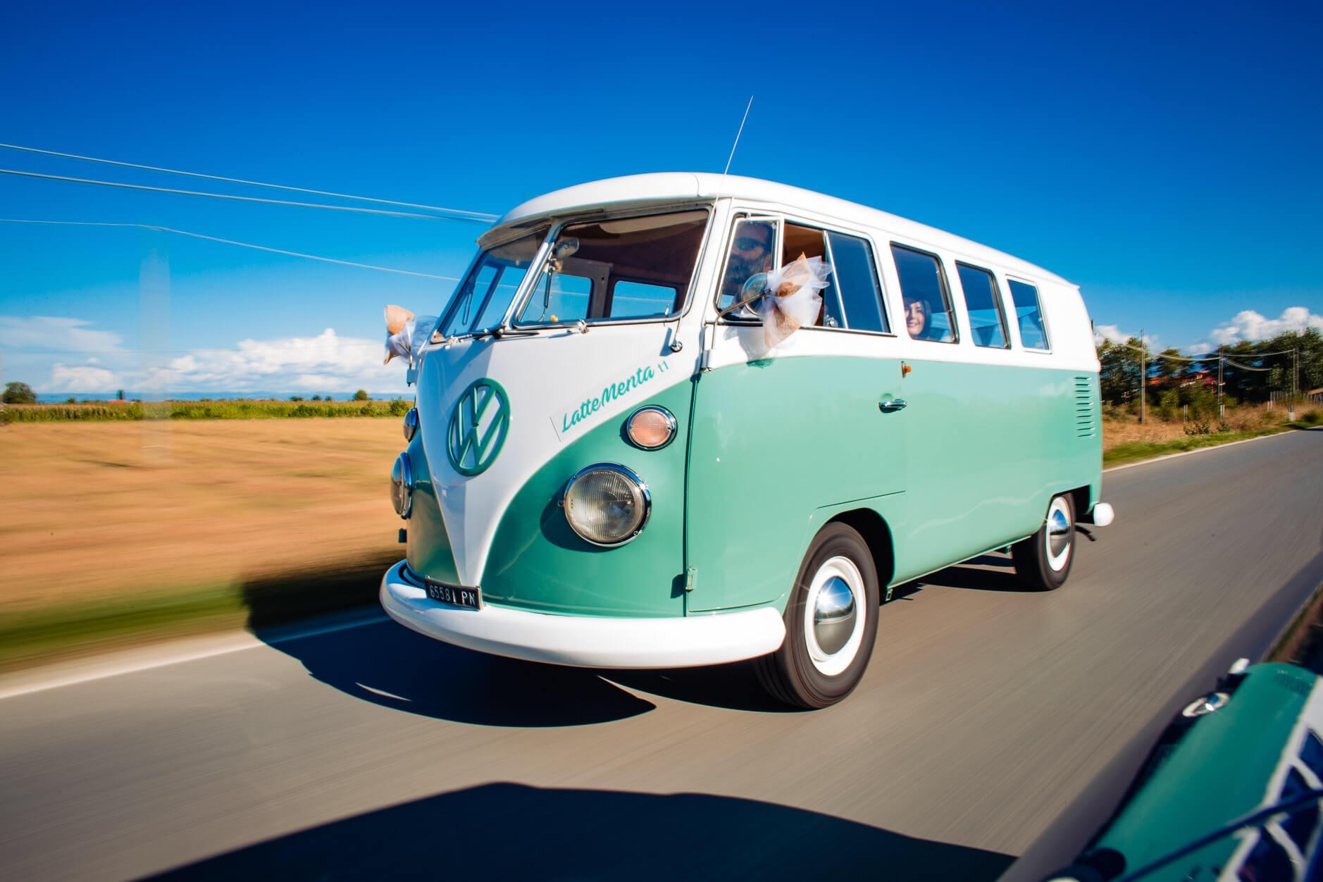 pulmino vintage matrimonio volkswagen