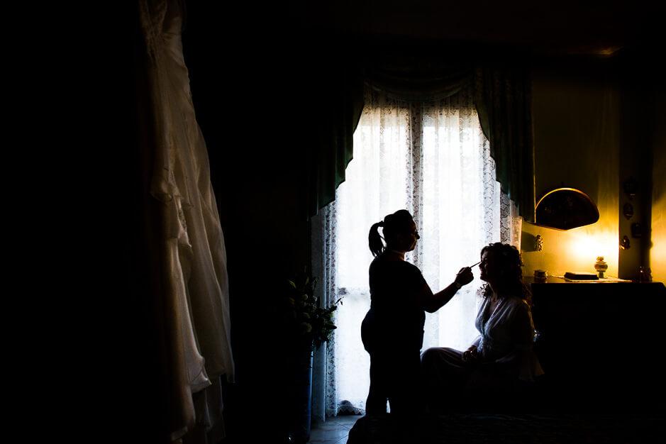 Fotografo di matrimonio trucco