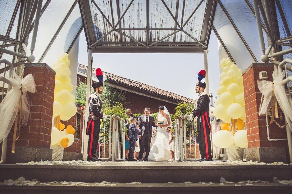 Matrimonio in alta uniforme