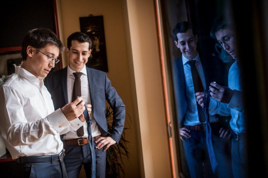 Matrimonio preparazioni sposo