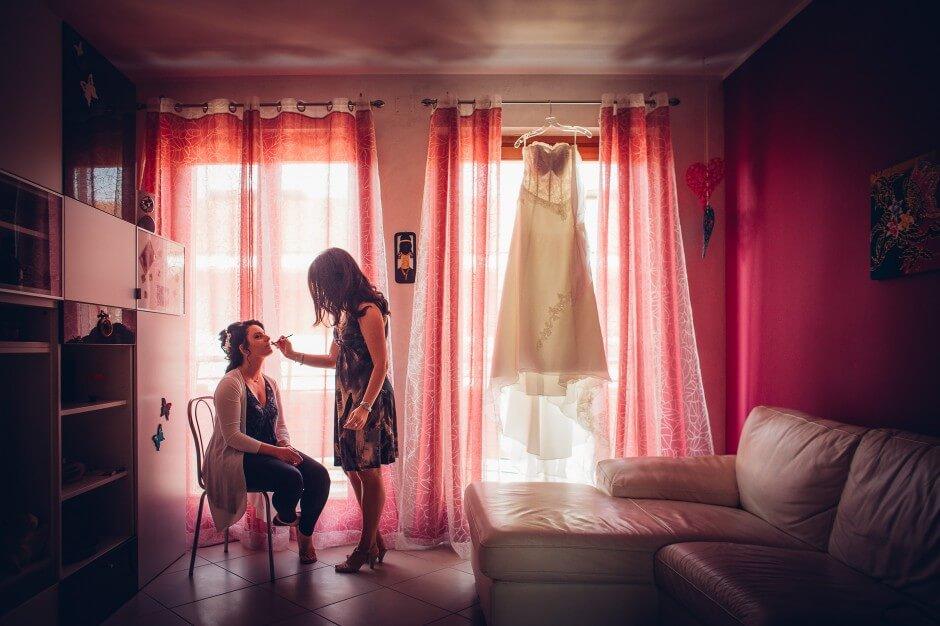 Fotografo Matrimonio preparazione sposa