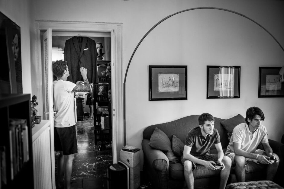 Fotografo matrimonio Torino preparazione