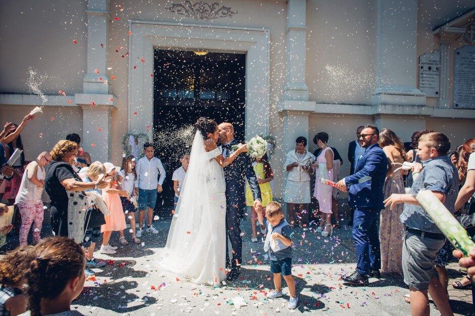 San Maurizio Canavese lancio riso sposi