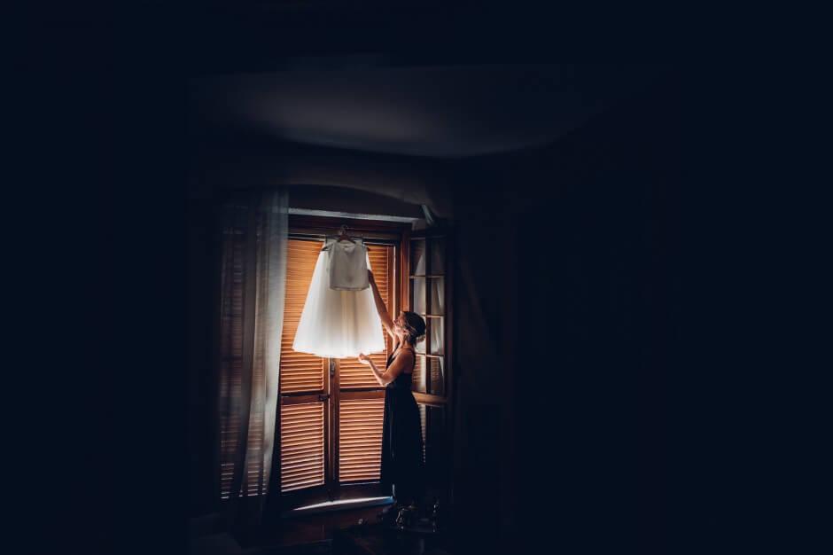 fotografo matrimonio abito sposa