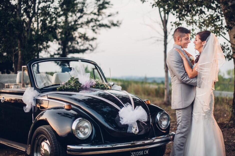 fotografo matrimonio auto maggiolone