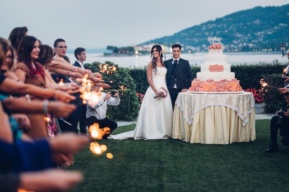 matrimonio lago maggiore baveno torta