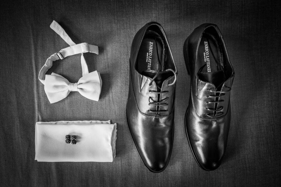 fotografo matrimonio scarpe papillon