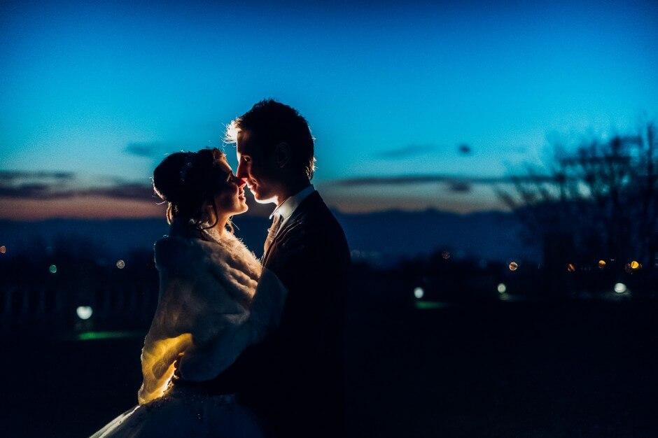 matrimonio dicembre tramonto canavese