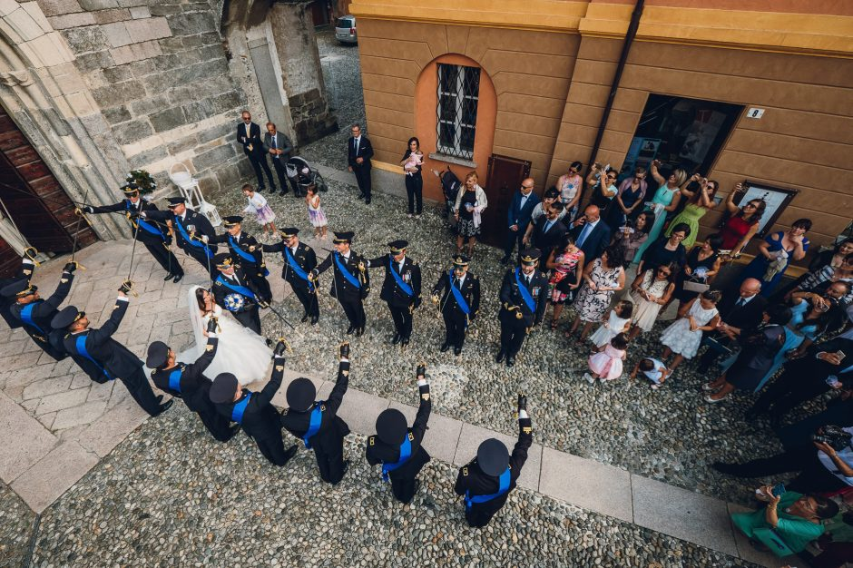 matrimonio in alta uniforme
