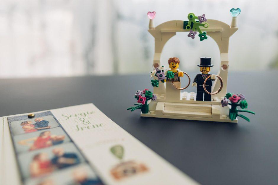 portafedi lego sposi
