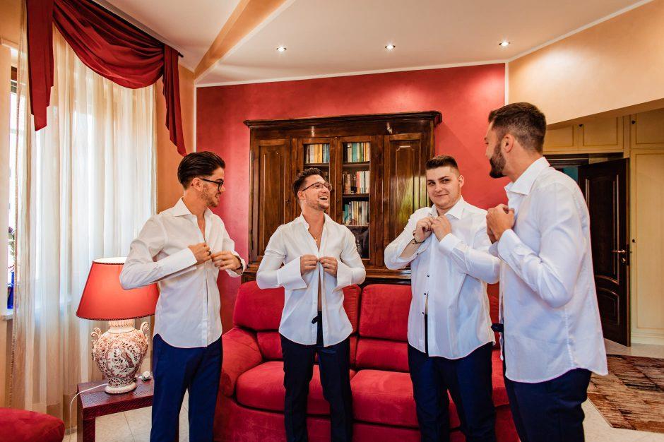 preparazioni sposo testimoni