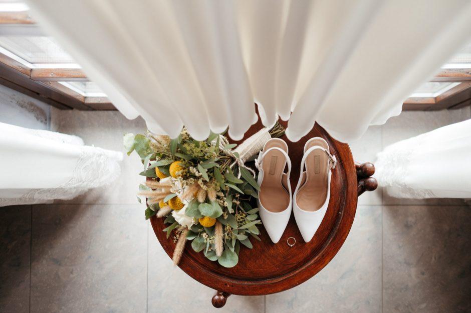 scarpe bouquet abito sposa